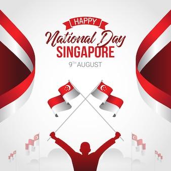Celebrazione della festa dell'indipendenza di singapore