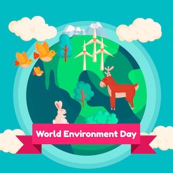 Celebrazione della giornata mondiale dell'ambiente
