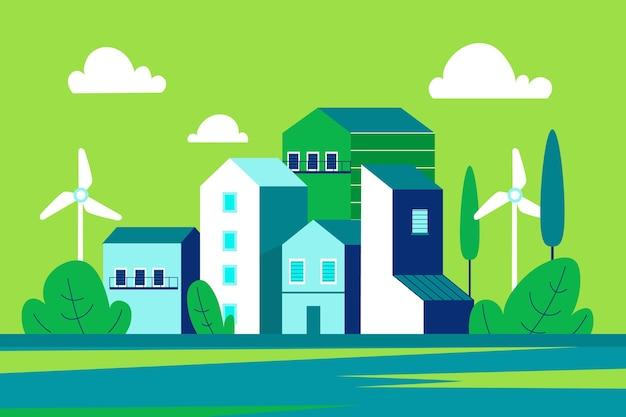 Celebrazione della giornata mondiale dell'habitat design piatto