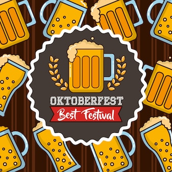 Celebrazione della oktoberfest in germania
