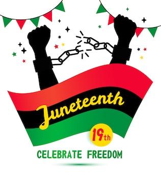 Celebrazione dello sfondo del juneteenth day del 19 giugno