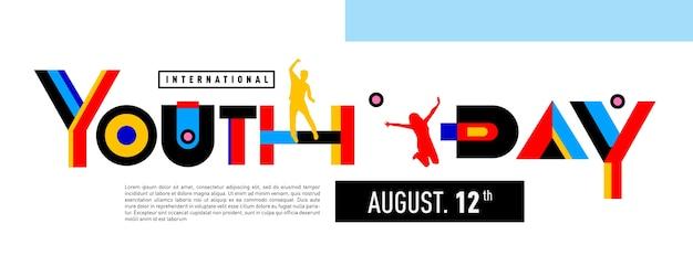 Celebrazione di banner per la giornata internazionale della gioventù