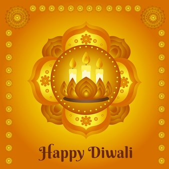 Celebrazione di diwali design disegnato a mano