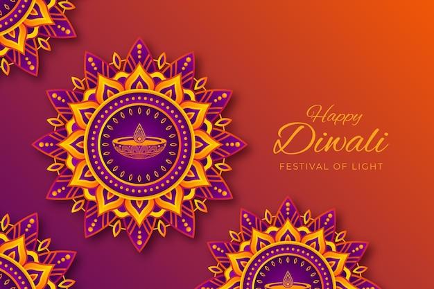Celebrazione di diwali in stile carta
