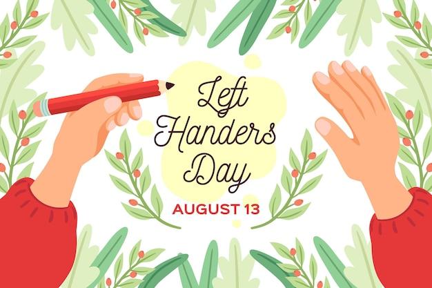 Celebrazione di evento di giorno per mancini disegnati a mano