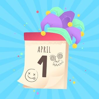 Celebrazione di giorno di pesce d'aprile design piatto
