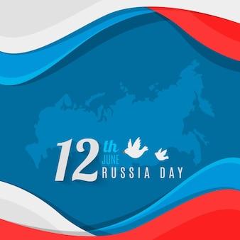 Celebrazione di giorno russia design piatto