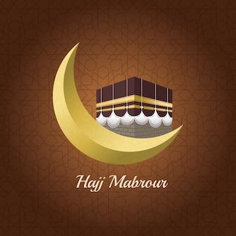 Celebrazione di hajj mabrur con la luna
