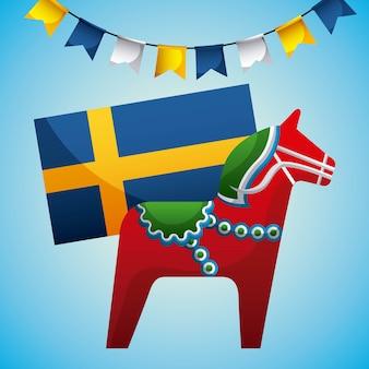Celebrazione di mezza estate svedese