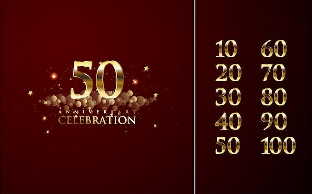Celebrazione di numeri lussuosi ed eleganti.