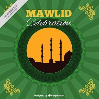 Celebrazione sfondo mawlid