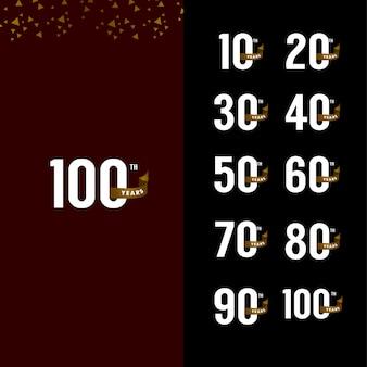 Celebrazione stabilita di anniversario di 100 anni