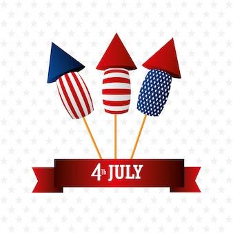 Celebrazione usa di festa dell'indipendenza del 4 luglio