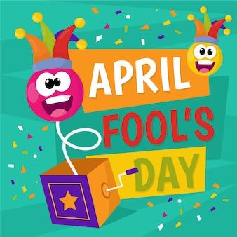 Celebrazione variopinta di giorno dei pesci d'aprile