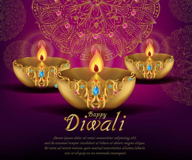 Celebrazioni di diwali festival indiano
