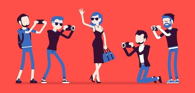 Celebrità e giornalisti