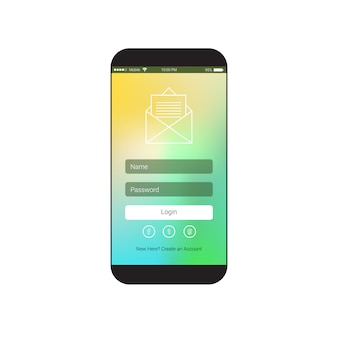 Cell smart phone screen