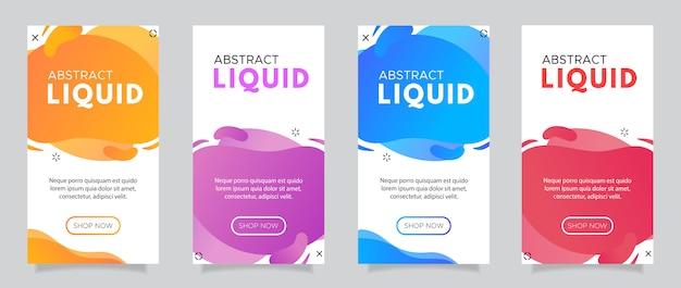 Cellulare fluido moderno per banner di vendita flash.