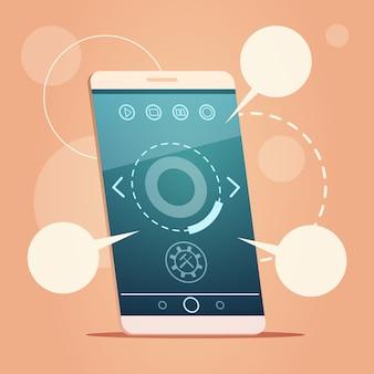Cellulare moderno smart phone con chat chat messaggio sms di comunicazione