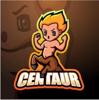 Centaur mascot esport illustration
