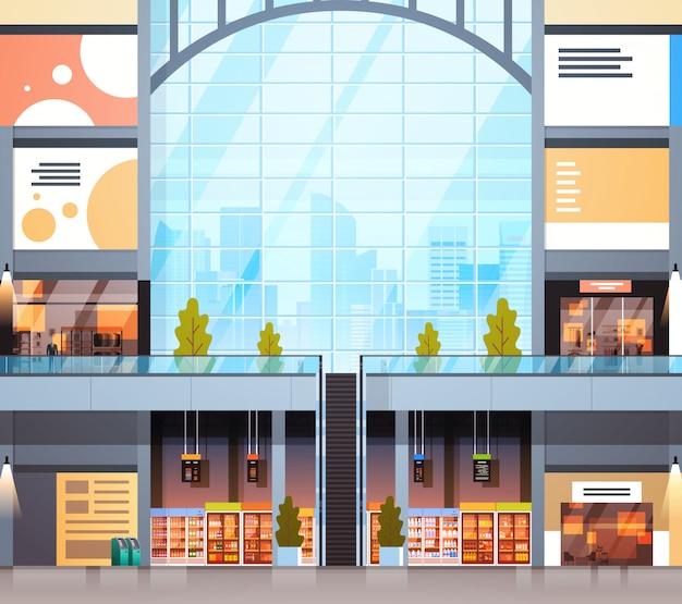 Centro commerciale interno di negozio al dettaglio moderno