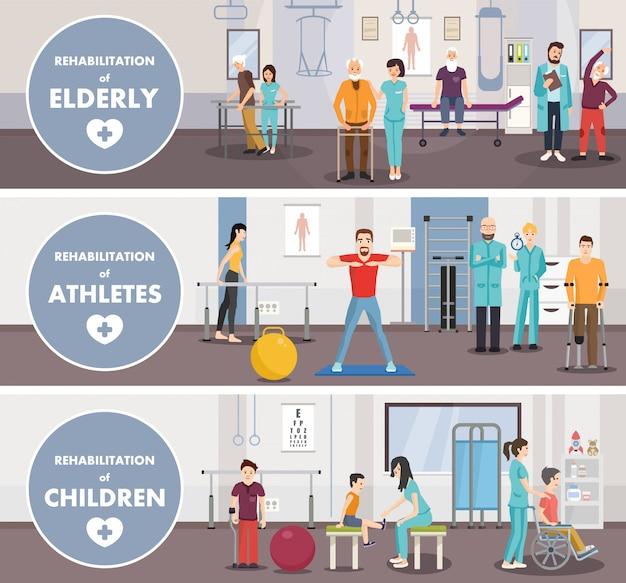 Centro di riabilitazione di bambini di atleti di anziani.