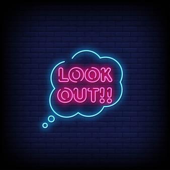 Cerca il testo in stile insegne al neon