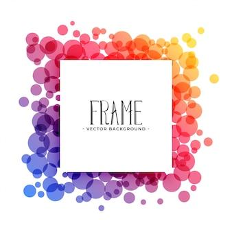 Cerchi colorati creativi cornice di sfondo