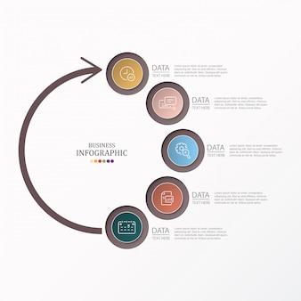 Cerchi infografica e icone