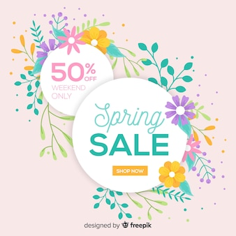 Cerchi piatti primavera vendita sfondo