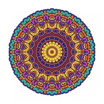 Cerchio astratto rotondo colorato con stile mandala