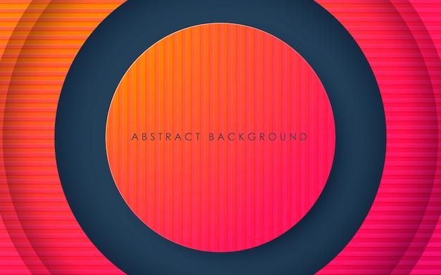 Cerchio astratto sfondo arancione