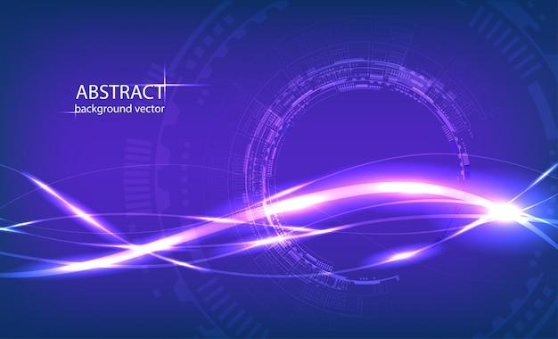 Cerchio astratto tecnologia sfondo blu