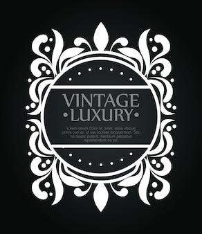Cerchio cornice con stile ornamento per etichetta vino, modello di testo