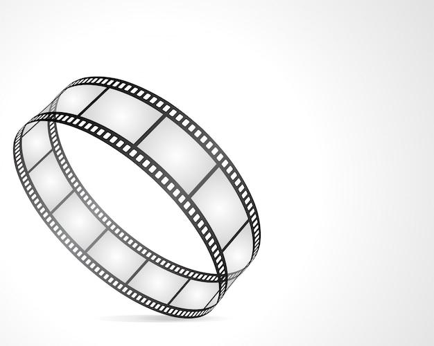 Cerchio dall'illustrazione retro del film del rotolo