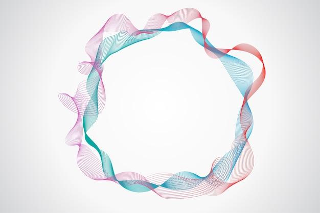 Cerchio di linee astratte su uno sfondo bianco.