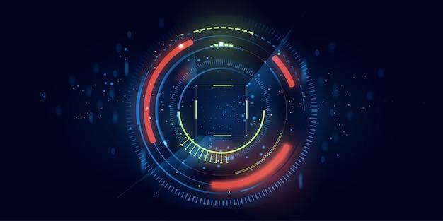 Cerchio di tecnologia e sfondo di tecnologia