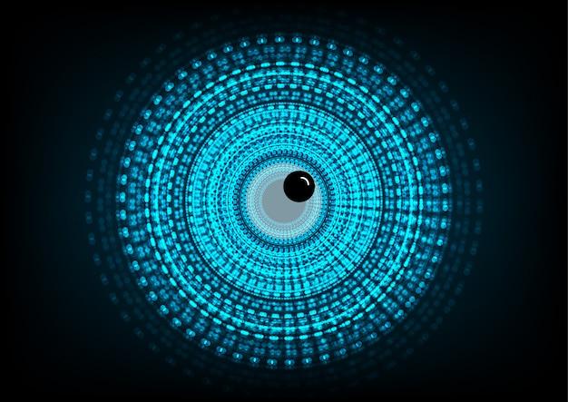 Cerchio di vettore e linea elettrica con sfondo blu ciclo elettronico