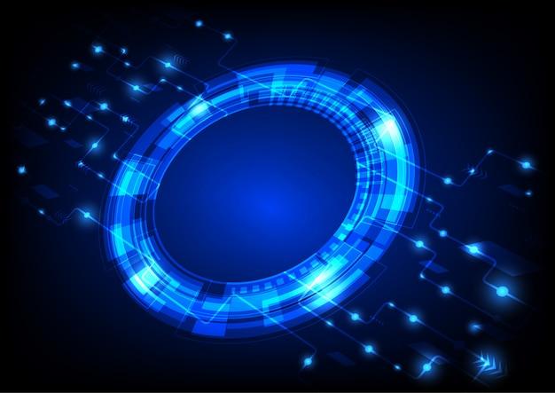 Cerchio digitale sullo sfondo
