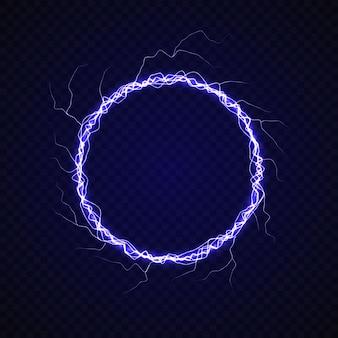 Cerchio elettrico con effetto lampo