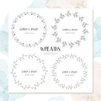 Cerchio floral frame design