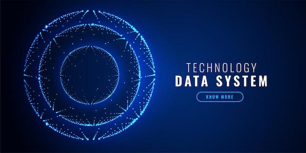 Cerchio futuristico punti tecnologia sfondo