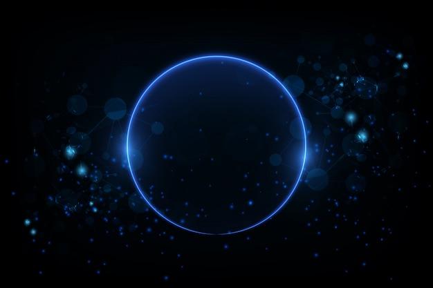Cerchio incandescente sullo sfondo