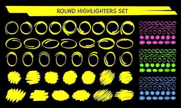 Cerchio marcatore evidenziazione disegnare a mano