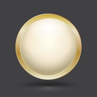 Cerchio moderno stile cornice 3d.