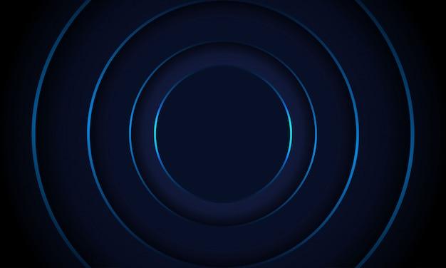 Cerchio semplice sfondo blu scuro