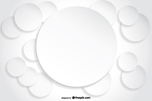 Cerchio sfondo effetto ritaglio di carta
