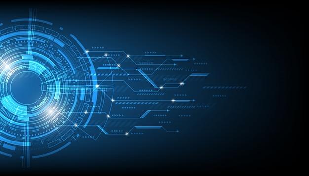 Cerchio tecnologia vettoriale e sfondo tecnologia