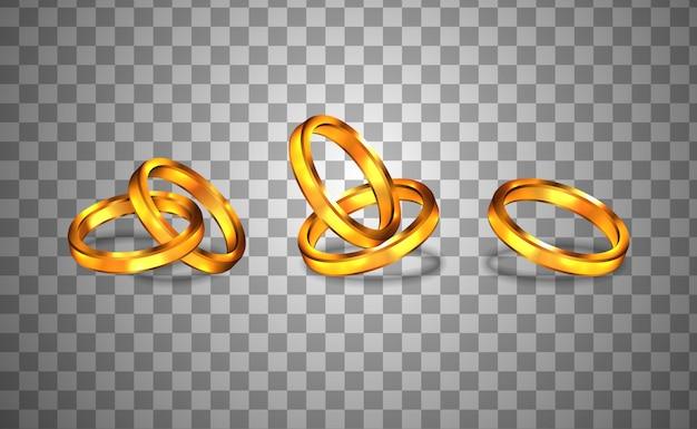 Cerimonia di fidanzamento anello d'oro