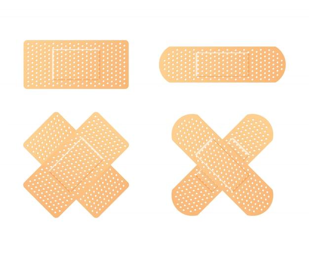 Cerotti medici elastici. benda adesiva, chiamata collezione di cerotti.